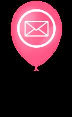 воздушные шарики письмо